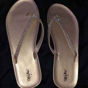 Missimo (Target brand) gold flip flops